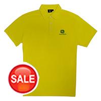 约翰迪尔黄色男款短袖T恤