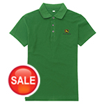 约翰迪尔女款绿色Polo衫John Deere Ladies' Short Sleeve Polo Shirt(Green)