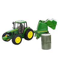 约翰迪尔1:16 Big Farm 拖拉机打捆机套装